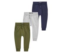3 PACK - Jogginghose - khaki/grey