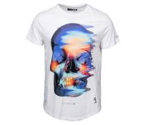 ACID SKULL - T-Shirt print - white/blue