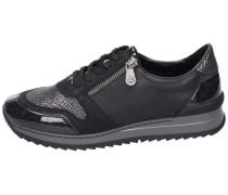 Sneaker low leonavy/schwarz/schwarzgold/schwarz