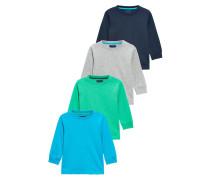4 PACK Langarmshirt blue