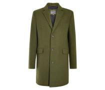 Wollmantel / klassischer Mantel grün