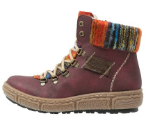 Snowboot / Winterstiefel wine/kastanie/orange