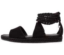 ROPE WRAPPED - Plateausandalette - black