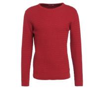 Strickpullover - pompeain red