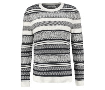 Strickpullover - dark blue /offwhite