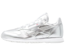 CLASSIC LEATHER METALLIC - Sneaker low - silver/white