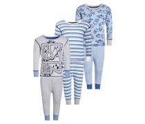 3 PACK Pyjama blue