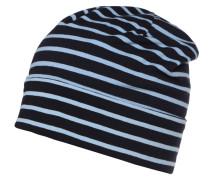 Mütze - navy/hellblau