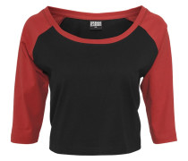 Langarmshirt - black/red