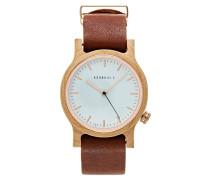 WILMA Uhr maple/cognac