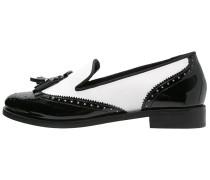 Slipper black/white