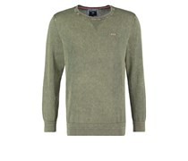 Strickpullover army green