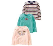 3 PACK - Langarmshirt - pink