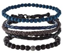 3 PACK Armband black/blue