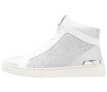 Sneaker high silver