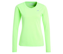 Funktionsshirt - lime glo heather