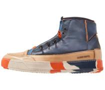Sneaker high cali tomado/marino/tortora