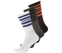3 PACK Socken white/ blue grey/black/orange
