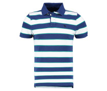 MUSCLE FIT - Poloshirt - white/blue