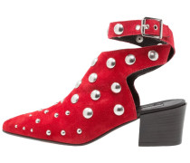 MADNESS STUDDED - Cowboy-/ Bikerstiefelette - red