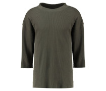 THERMAL BOXY Strickpullover olive