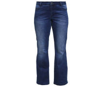JRJESSIE Jeans Bootcut dark blue denim