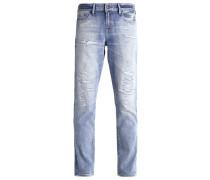 MONROE Jeans Straight Leg destroyed denim