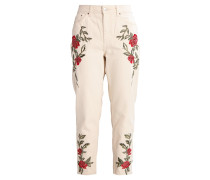 ROSE MOM - Jeans Tapered Fit - cream