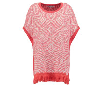 Strickpullover - offwhite/coral