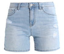 CAJSA - Jeans Shorts - bleached blue denim