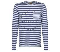 POCKET - Langarmshirt - white/dark blue