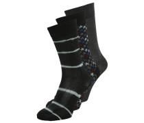 3 PACK Socken black charcoal/black