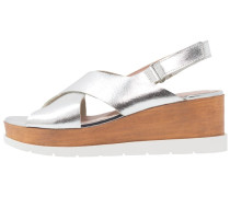 Plateausandalette - silver