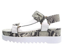 JUSTICE Plateausandalette white/multicolor