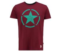 STAR TShirt print burgundy