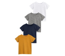 4 PACK TShirt basic ochre