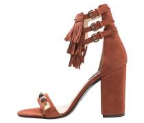 High Heel Sandaletten burnt red