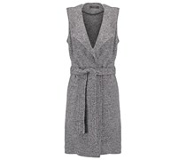 VILLOU Weste light grey melange