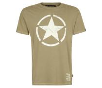 STAR TShirt print oliv