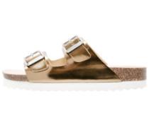 Pantolette flach bronze