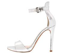 High Heel Sandaletten argento