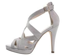 High Heel Sandaletten light grey