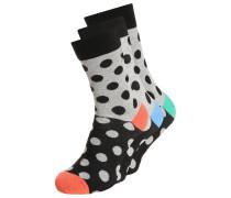 3 PACK Socken black/grey/orange