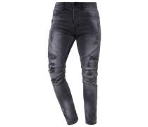Jeans Tapered Fit vintage distressed black