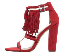 SIERRA High Heel Sandaletten red