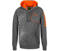 Kapuzenpullover grey/orange
