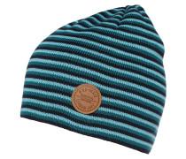 Mütze navy/grün/türkis