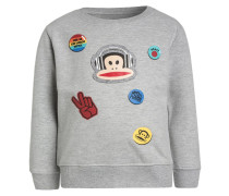 BUTTON - Sweatshirt - grey melange