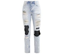 DEBBIE TRASH Jeans Straight Leg light blue denim