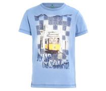 T-Shirt print - mottled light blue